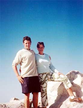 Arantxa y Miguel en el Teide