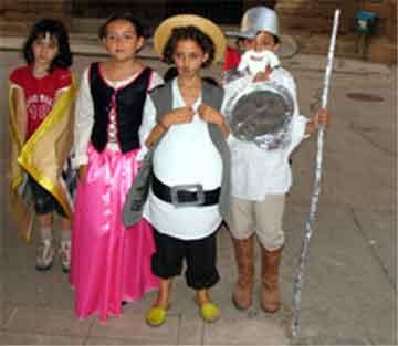 Los niños salieron disfrazados