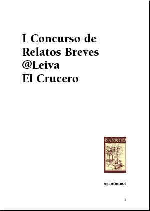 Ya está editado el libro electrónico con los relatos del @Leiva El Crucero