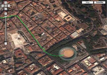 Pamplona, vía satélite